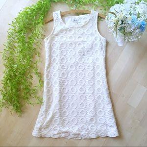 ISAAC MIZRAHI Crochet Lace Mini Dress White XS